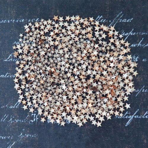 50 x Holz Star Verzierung Scrapbooking Neu Stanzteile Mix Deko DIYs