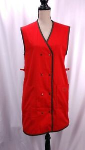 Vintage-Eastern-Airlines-Stewardess-Uniform-Smock-Size-S-Red-Personalized-Susan