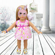 DIY Handmade Doll Clothes Dress for 18 inch Doll Baby Kids Gifts