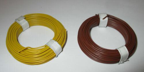 0,1475€//m Schaltdraht  0,5mm Kupfer  2 Ringe a 10 Meter  *NEU* Farbwahl