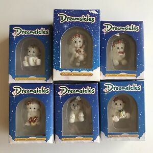 Lot of 6 - 1994 Vintage Dreamsicles Collectibles Christmas Ornaments/NEW In Box