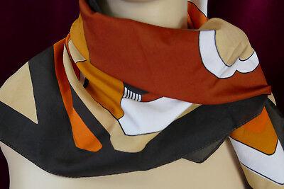 Brioso 70 Anni * Vintage * Rockabilly * Foulard Sciarpa * * Marrone Arancione * Motivo Floreale-mostra Il Titolo Originale 2019 Ultima Vendita Online Stile 50%