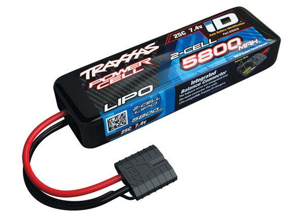 Traxxas 2843X 5800mAh 7.4v 2-Cell 25C LiPo Battery Brand NEW