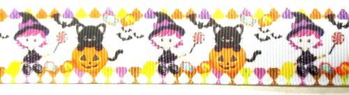 Cinta Tema De Halloween por la yarda gran scrapbooking /& Cabello Moño hacer manualidades