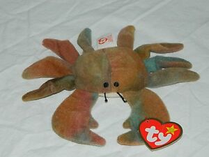 TY Teenie Beanie Baby Claude the Crab 1993 Mint Both Tags MINT  e4217ae08f1