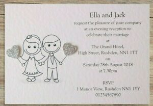 50-Wedding-Invitations-Evening-Invites-with-Envelopes-40-Colour-Choices