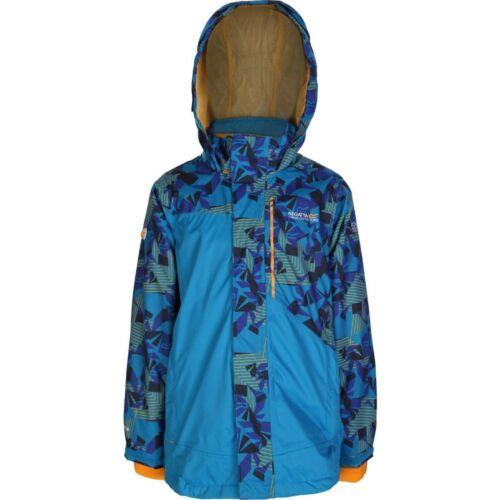 REGATTA BOYS BLASTER 3IN1 JACKET METHYL BLUE//SURF SPRAY PRINT RRP £65