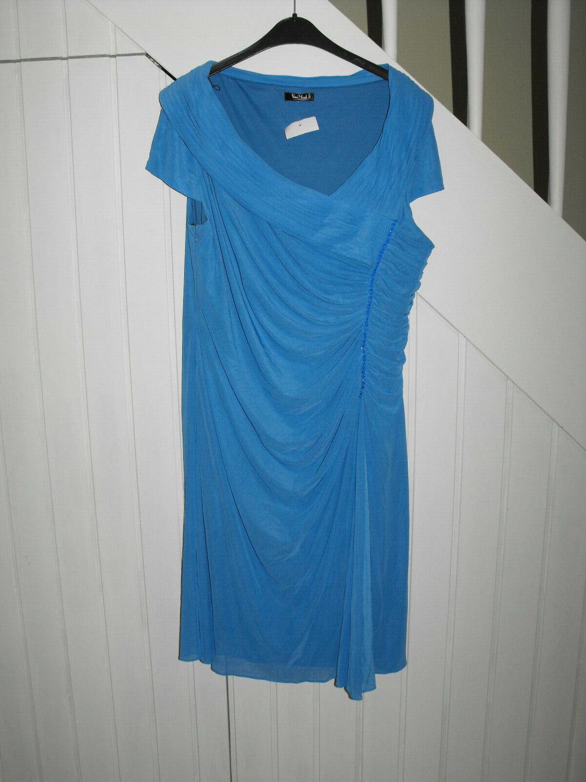 Vera Mont extravagant Jersey Kleid Party Cocteyl stretch Abendkleid Gr.48 50 2XL