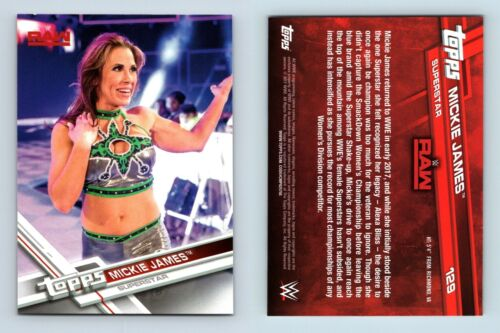 Mickie James #129 WWE puis maintenant Forever 2017 TOPPS CARTE