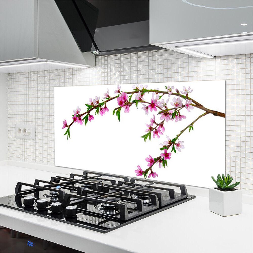 Célébrez les voeux du Nouvel An cuisine Crédence de cuisine An en verre Panneau 120x60 Nature Branche Fleurs 54ba52
