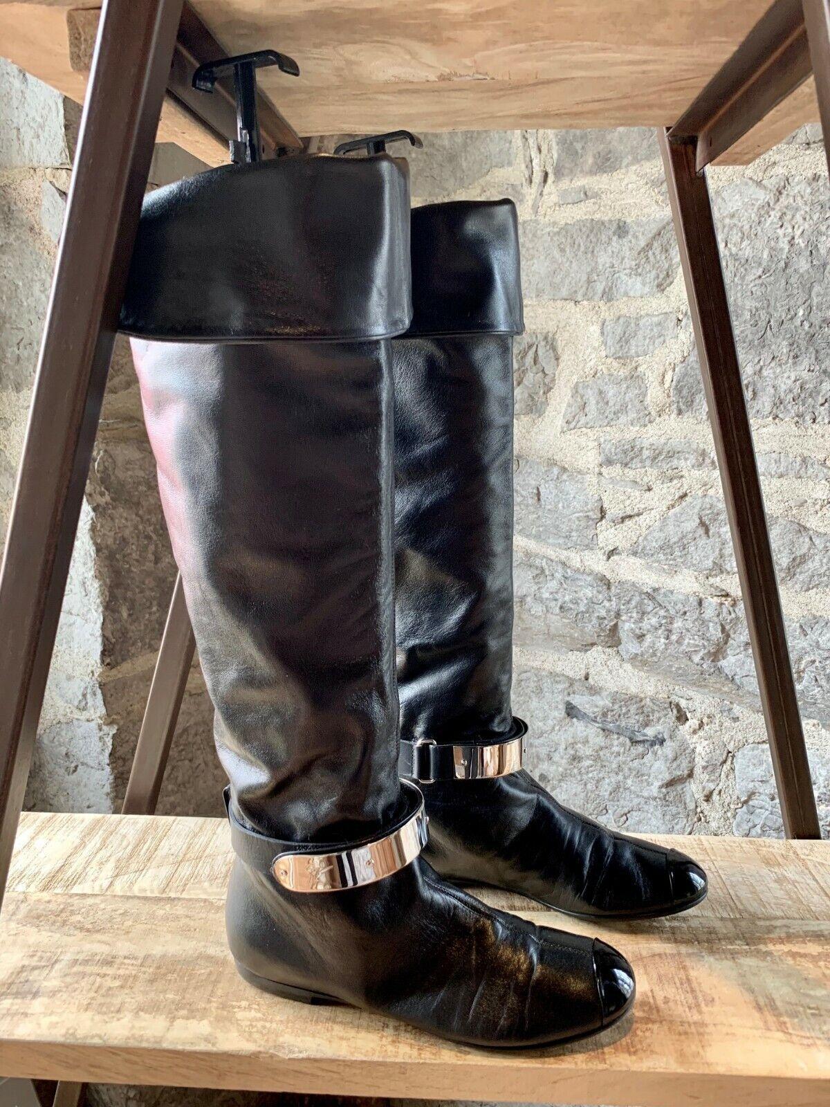 Giuseppe Zanotti Over-the-knee Logo Plaque Flat botas - Talla 38 IT - 8 US