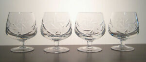 PINWHEEL-SEARS-CRYSTAL-Brandy-Snifters-4-1-2-034-SET-OF-FOUR-Multi-Avail
