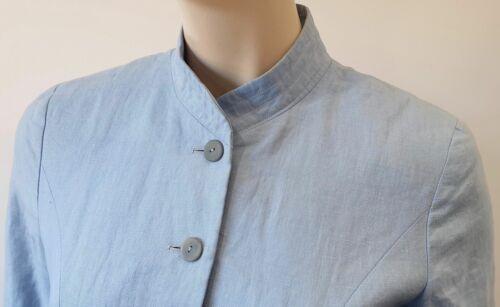 23977be3d Uk6 ligero de abrigo Kenzo lino Pálido chaqueta 36 azul dobladillo ...