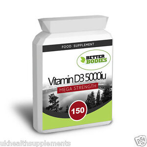 Vitamin-D3-5000iu-Potent-150-tablets-Capsules-bones-Health-Muscle-Better-Bodies