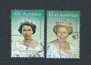 AUSTRALIE-2002-DORE-JUBILE-PAIRE-TRES-BIEN-UTILISE
