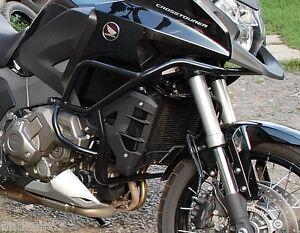 Details about Honda VFR1200X Crosstourer Engine Guard Crash Bars for DCT  Black Mmoto HON0058