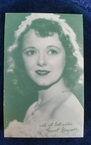 Janet Gaynor Arcade Exhibit Card 1940's MOVIE ARCADE CARD