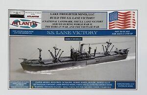 SS-Lane-Victory-Merchant-Marine-Cargo-Ship-Paper-Boat-Model-Atlantis-Toy-amp-Hobby