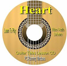 Heart *GUITAR TABS * Lesson Software CD - ( 12 Songs )