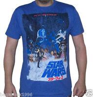 Star Wars Distressed 1977 Vintage Japanese Movie Poster Men's T-shirt (sw26)