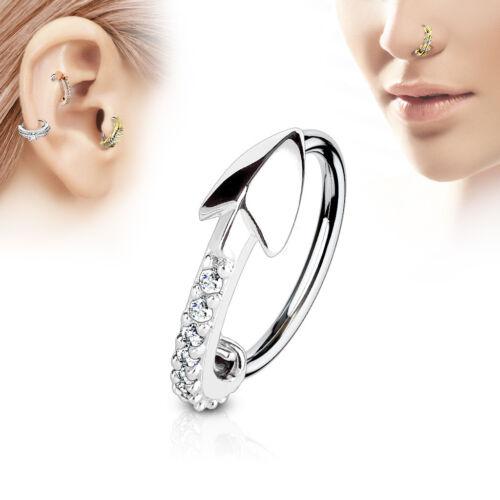 CZ Arrow Ear Cartilage Earrings Daith Tragus Helix Hoop Nose Rings
