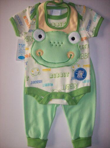 Bon Bebe 3pc Set Bodysuit Bib Pants S M L Assorted Colors Designs New