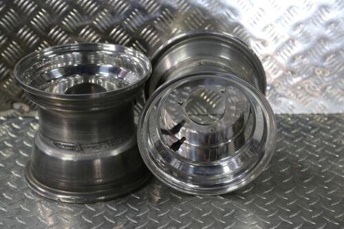 Raptor 80 pair polished aluminum 2 Rims Wheel Rear 3//90 Yamaha Grizzly