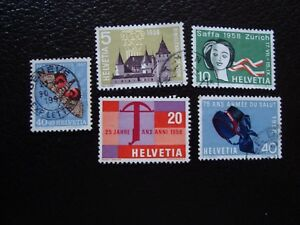 Switzerland-Stamp-Yvert-and-Tellier-N-601-A-605-Obl-A1-Stamp-Switzerland-T