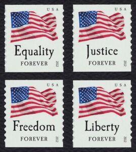 #4633-4636 Cuatro Banderas, Individuales, Nuevo Cualquier 5=