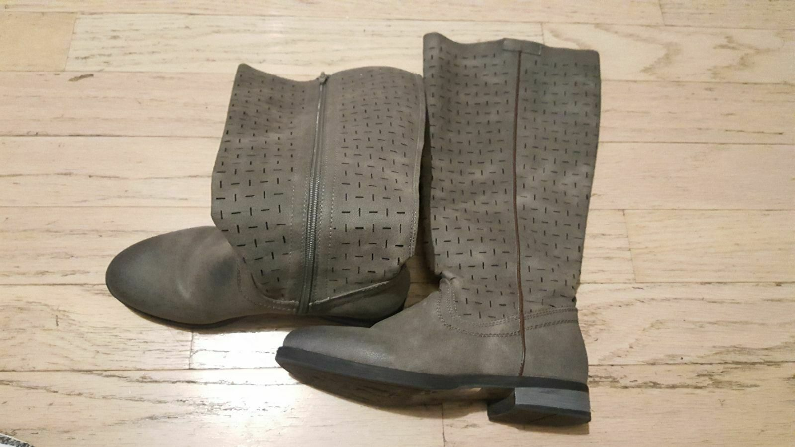 Slightly Used Grey Brown MukLuks long boots