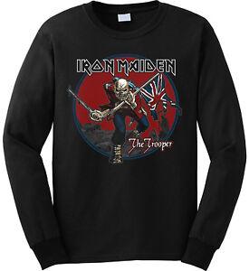 Official Maiden Iron Sky' Red 'trooper Crew New Neck amp; Sweatshirt zvvx7wBWqd