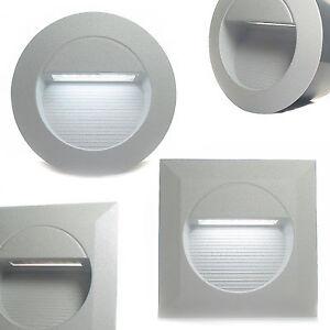 led wand einbau leuchte 230v ip65 au en mauer garten treppen beleuchtung rayon ebay. Black Bedroom Furniture Sets. Home Design Ideas