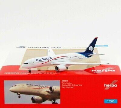 OVP NEU Aeromexico Boeing 787-8 Dreamliner Herpa 529815-1:500