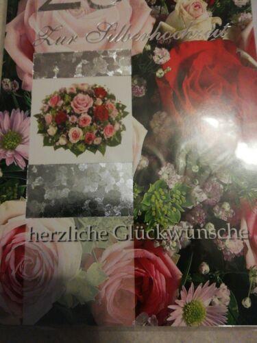 "Glückwunschkarte /""Silberhochzeit/"""