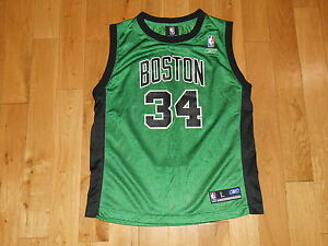 san francisco 823d2 c6d46 Details about Reebok PAUL PIERCE Alternate BOSTON CELTICS Youth NBA Team  Replica JERSEY Lrg