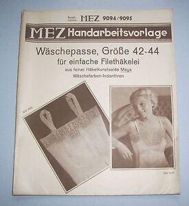 MEZ-Handarbeitsvorlage-Nachthemd-Waschepasse-Gr-42-44-Filethakelei