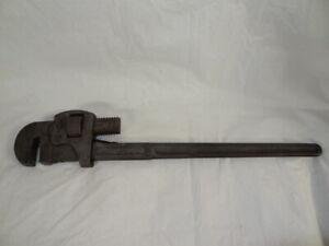 "Vintage Walworth 24"" Genuine Stillson Pipe Monkey Wrench Adjustable Made in USA"