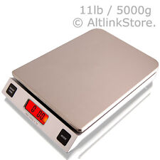 SAGA DIGITAL KITCHEN SCALE 11LB 5KG x1G oz DIET FOOD STAINLESS STEEL POSTAL W/ST