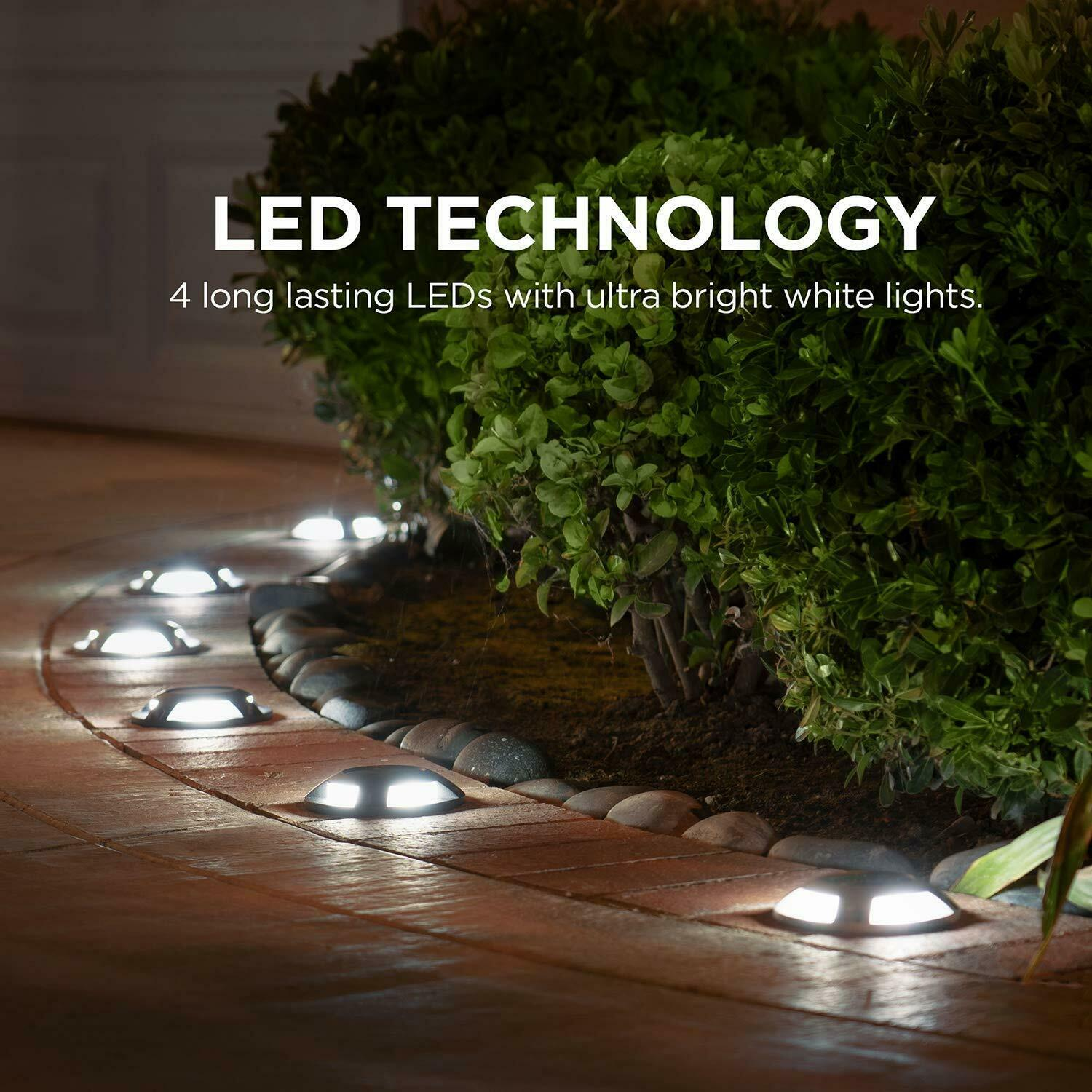 Home Zone Security Landscape Garden Lights for Deck,Driveway Path Solar Powered 2
