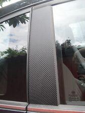 Fiat 500 3 puertas de fibra de carbono Efecto Pilar Trim kit de la etiqueta engomada