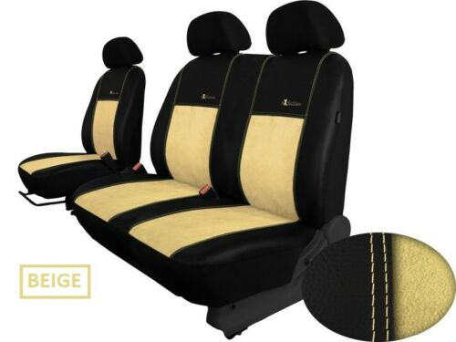 FORD TRANSIT Mk5 2000-2006 ECO LEATHER /& ALICANTE TAILORED SEAT COVERS