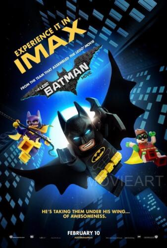 THE LEGO BATMAN MOVIE IMAX POSTER FILM ART A4 A3 PRINT CINEMA