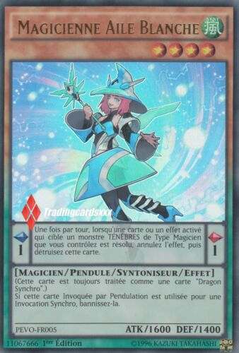 VF//Ultra Rare ♦Yu-Gi-Oh!♦ Magicienne Aile Blanche PEVO-FR005 Magician