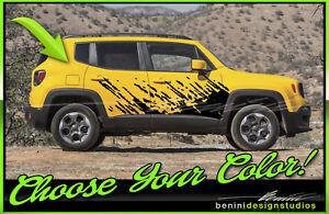 Mud Splash Graphics Fits 2015 2016 2017 2018 Jeep Renegade Ebay