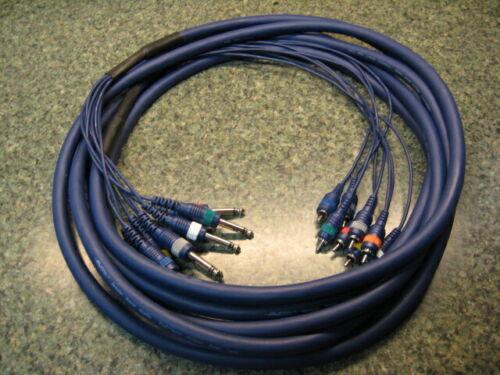 AV Link 25/' Foot Snake TS 1//4 inch jack to RCA jack