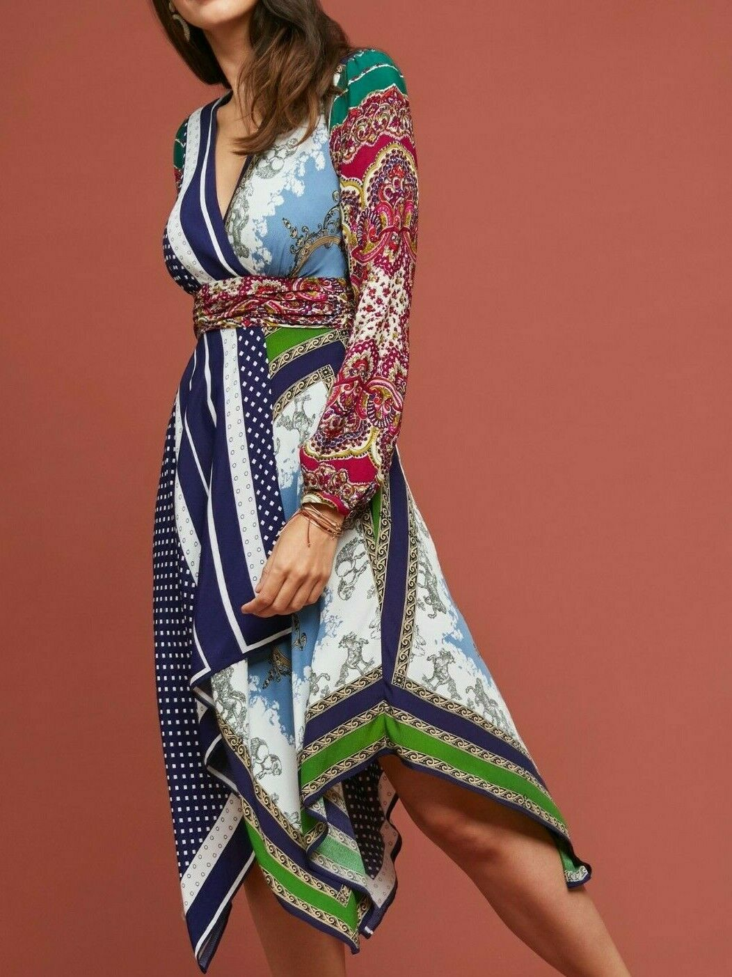 Anthropologie Istanbul Wrap Dress by Moulinette Moulinette Moulinette Soeurs  198 Sz 8 - NWT 1d81c5