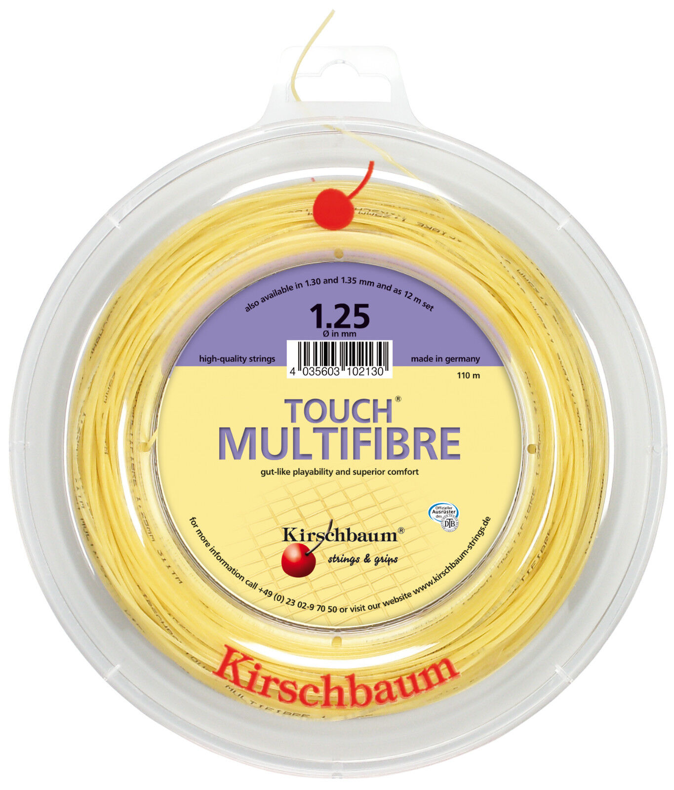 Kirschbaum Touch Multifibre Multifibre Multifibre 110 m Tennissaiten 4a7f14