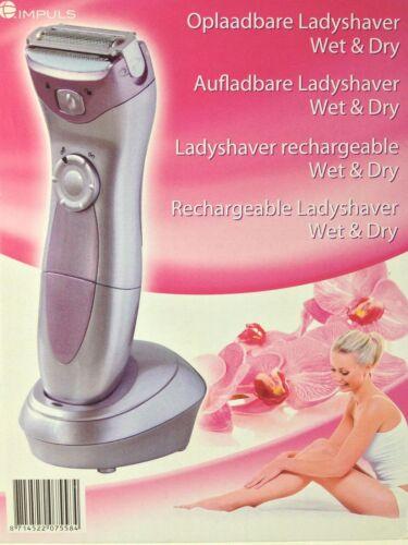 Ricaricabile Accumulatore ladyshaver Rasoio Donna Rasoio Wet Dry Bagnato e Secco