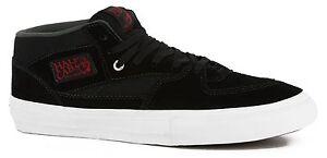 bc4db3f00e Vans Men s Half Cab Pro Skate Shoe Vans New Black   Red   Charcoal ...