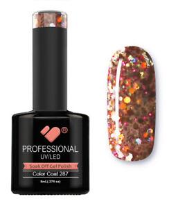 287-VB-Line-Rose-Orange-Silver-Glitter-UV-LED-soak-off-gel-nail-polish